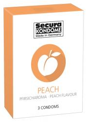 Secura Peach, virsikumaitselised kondoomid, 3tk