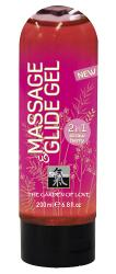 Massage and Lubricant Strawberry, kaks ühes-libesti ja massaaž, 200ml