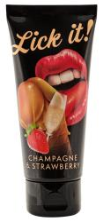 Lick-it Champagne & Strawberry, šampanja ja maasika oraallibesti, 100ml