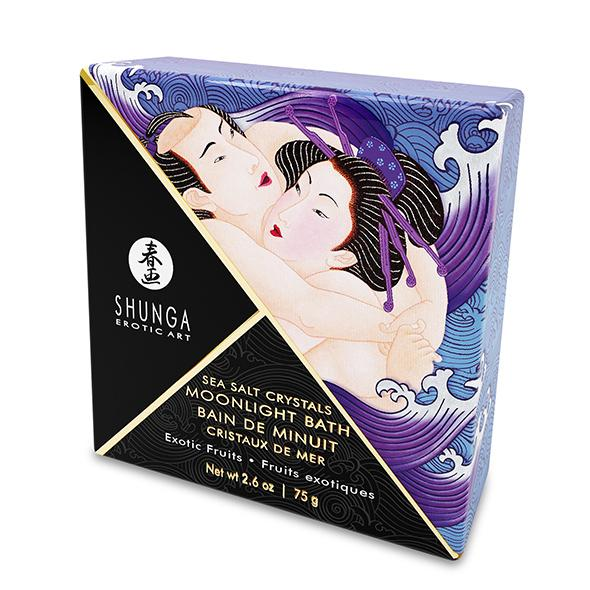SHUNGA - ORIENTAL CRYSTALS BATH SALTS SINGLE USE & DISPLAY EXOTIC FRUITS, vannisool, 75g
