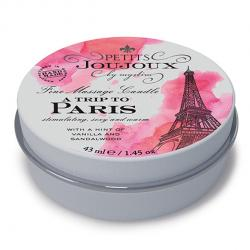 "PETITS JOUJOUX - MASSAGE CANDLE PARIS, massaažiküünal ""PARIIS"", 33 G"