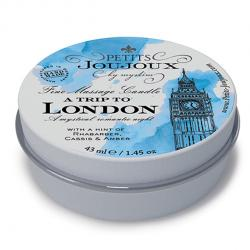 "PETITS JOUJOUX - MASSAGE CANDLE LONDON, massaažiküünal ""LONDON"", 33g"